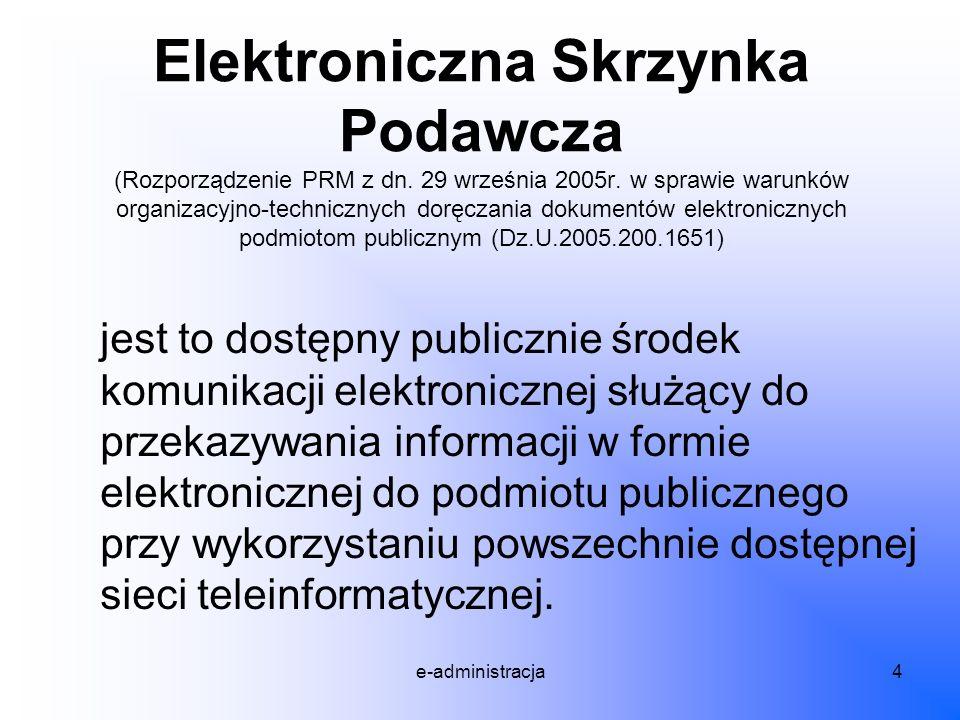 Elektroniczna Skrzynka Podawcza (Rozporządzenie PRM z dn