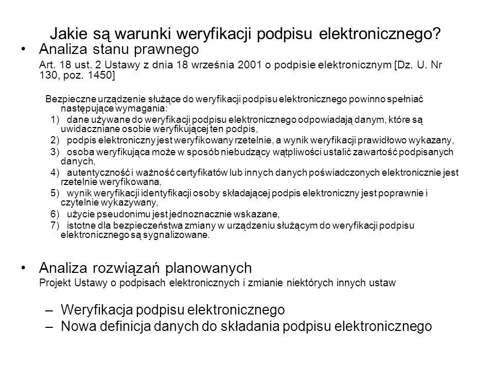 Jakie są warunki weryfikacji podpisu elektronicznego