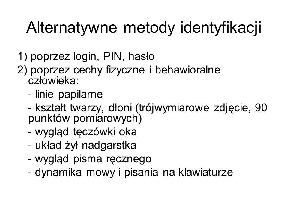 Alternatywne metody identyfikacji