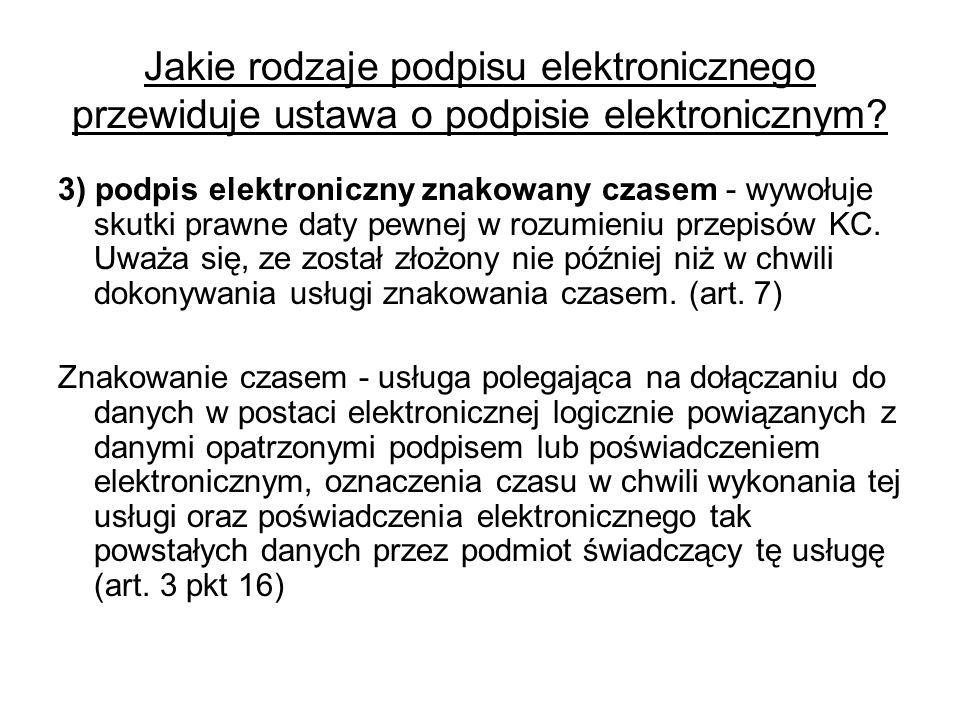 Jakie rodzaje podpisu elektronicznego przewiduje ustawa o podpisie elektronicznym