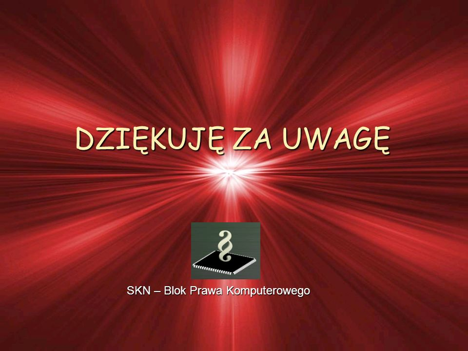 SKN – Blok Prawa Komputerowego