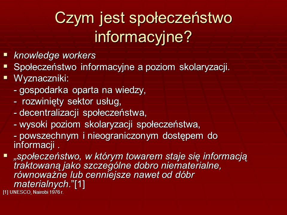 Czym jest społeczeństwo informacyjne