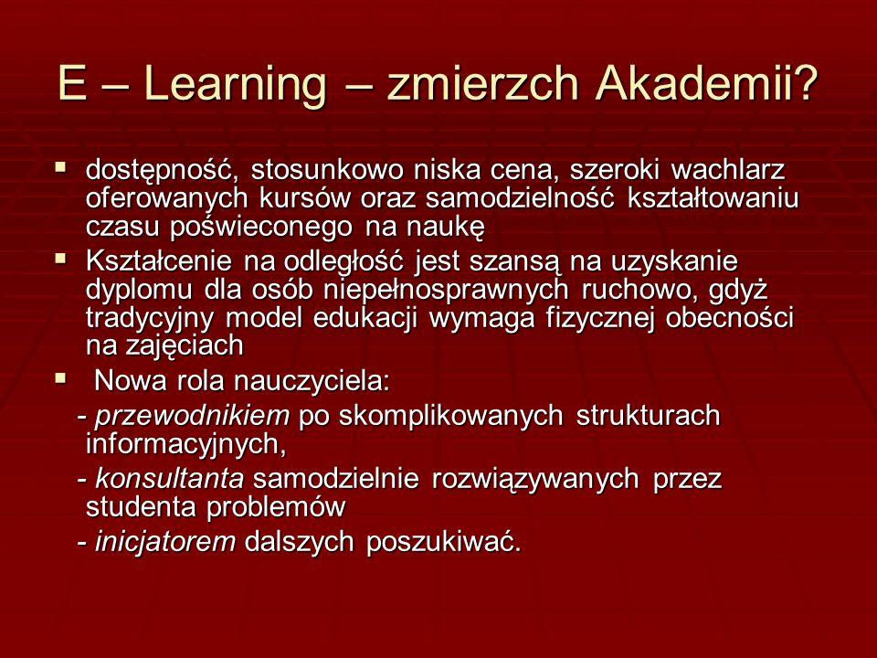 E – Learning – zmierzch Akademii