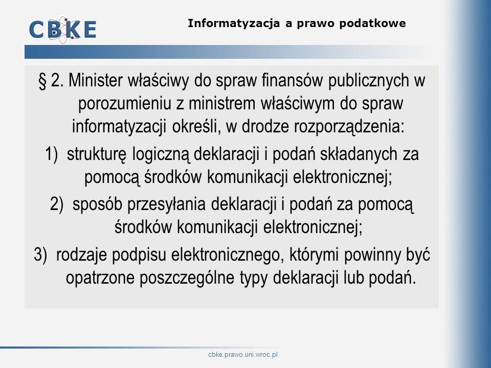 Informatyzacja a prawo podatkowe