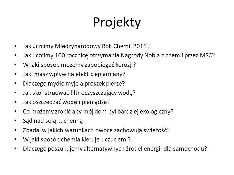 Projekty Jak uczcimy Międzynarodowy Rok Chemii 2011
