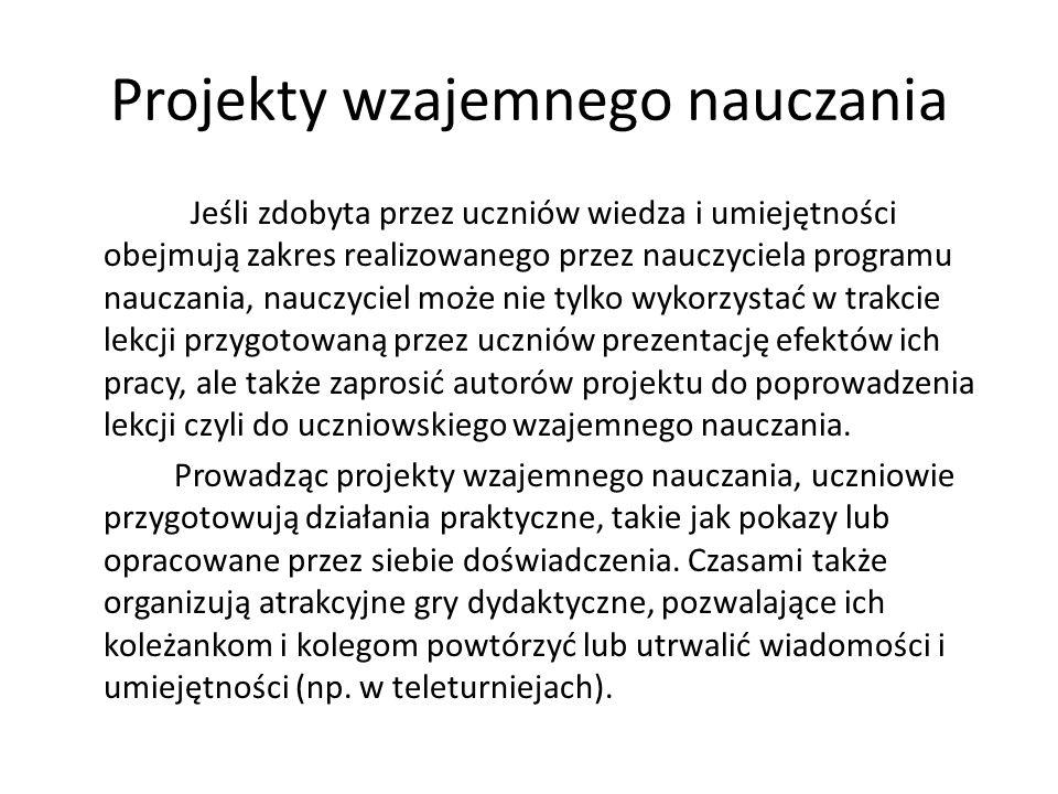 Projekty wzajemnego nauczania