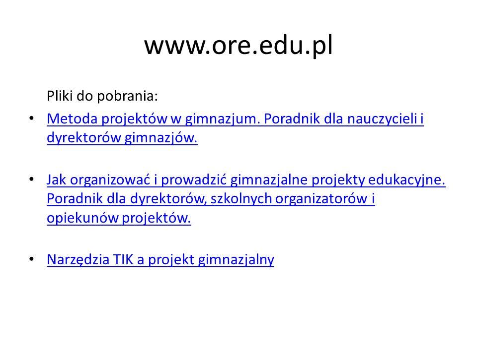 www.ore.edu.pl Pliki do pobrania:
