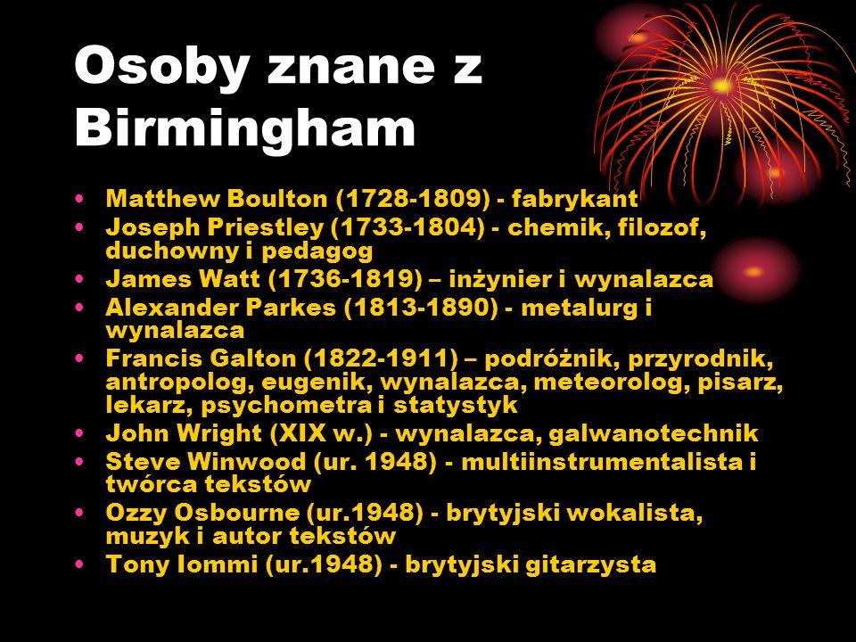 Osoby znane z Birmingham