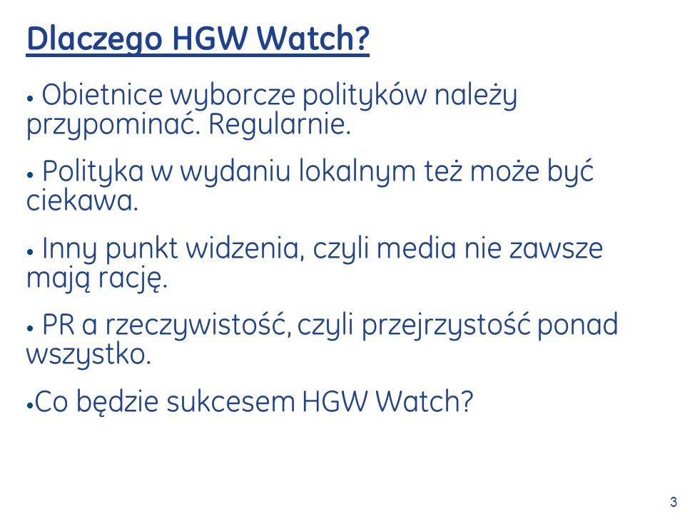Dlaczego HGW Watch Obietnice wyborcze polityków należy przypominać. Regularnie. Polityka w wydaniu lokalnym też może być ciekawa.