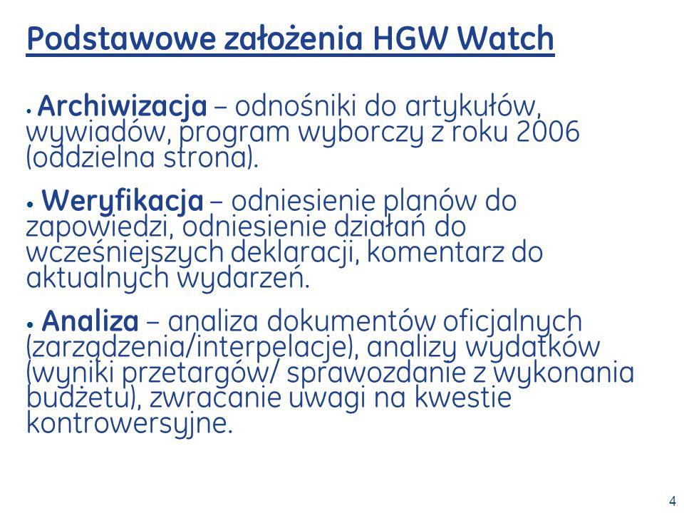 Podstawowe założenia HGW Watch