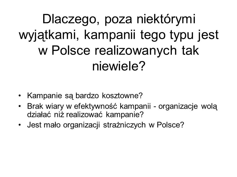Dlaczego, poza niektórymi wyjątkami, kampanii tego typu jest w Polsce realizowanych tak niewiele
