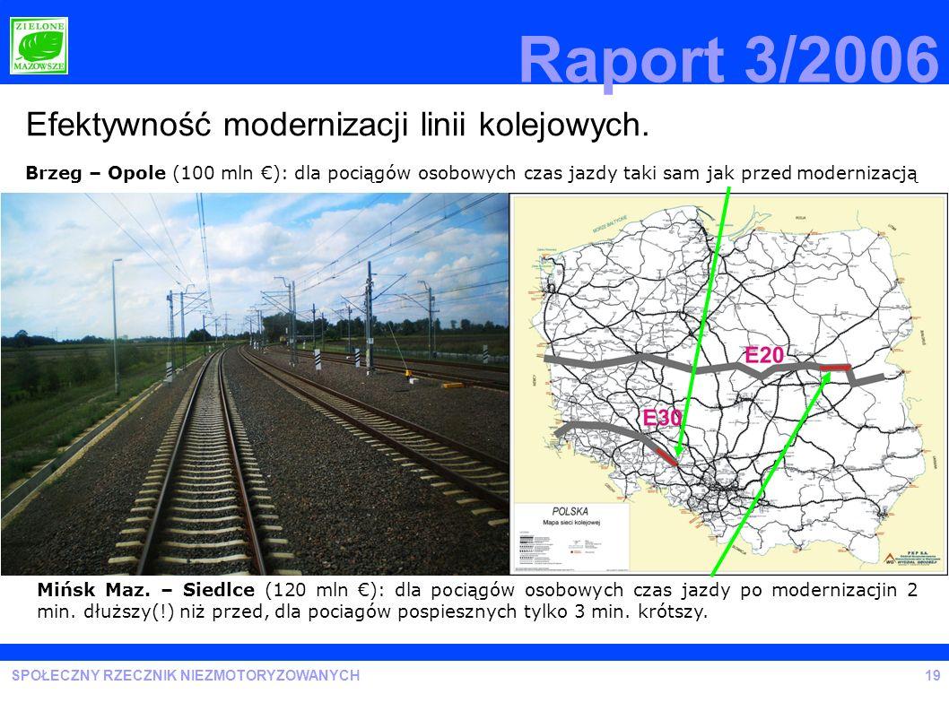 Raport 3/2006 Efektywność modernizacji linii kolejowych.