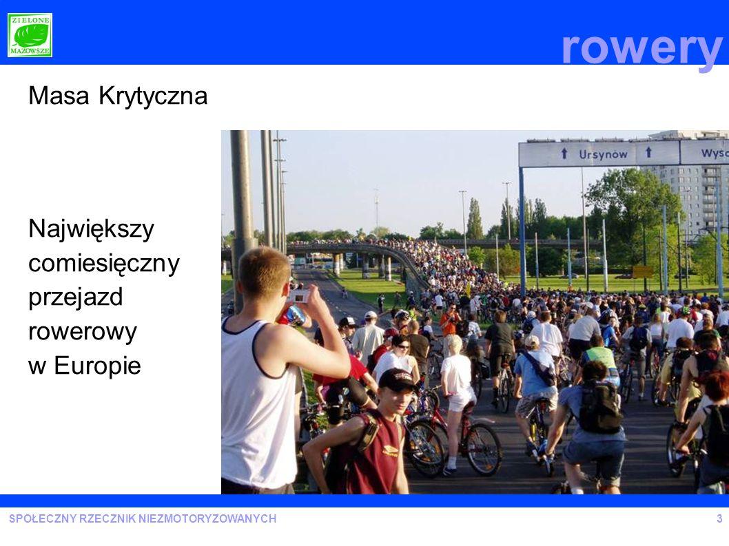rowery Masa Krytyczna Największy comiesięczny przejazd rowerowy