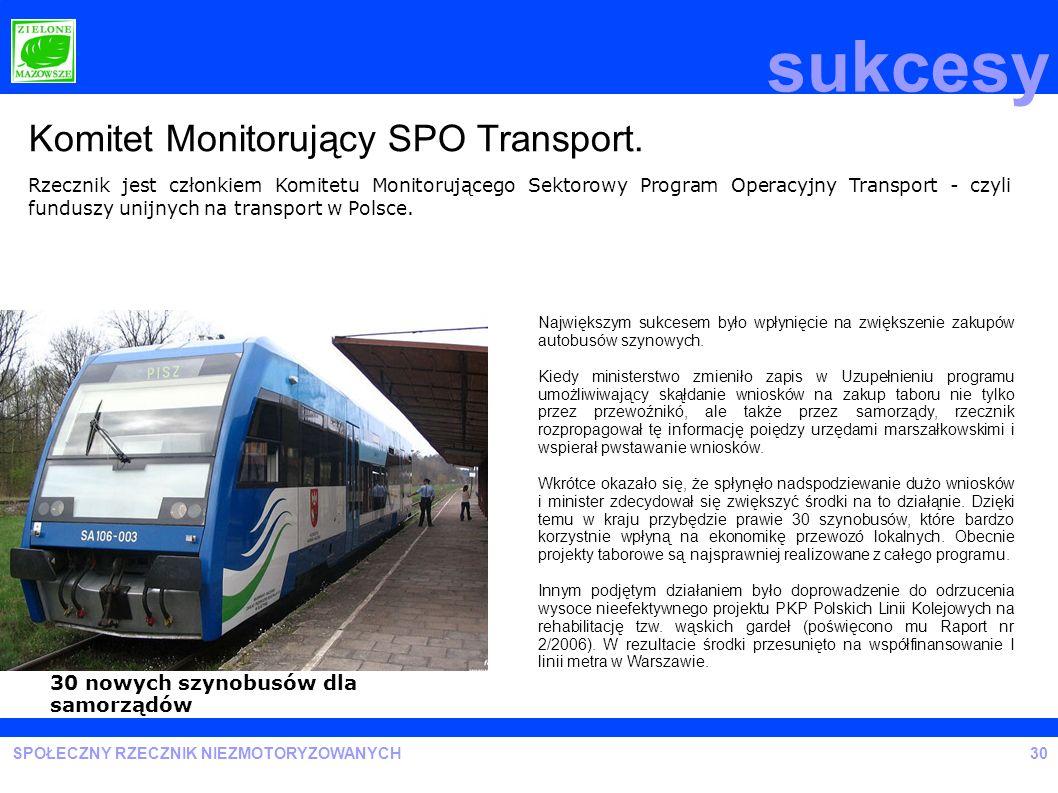 sukcesy Komitet Monitorujący SPO Transport.