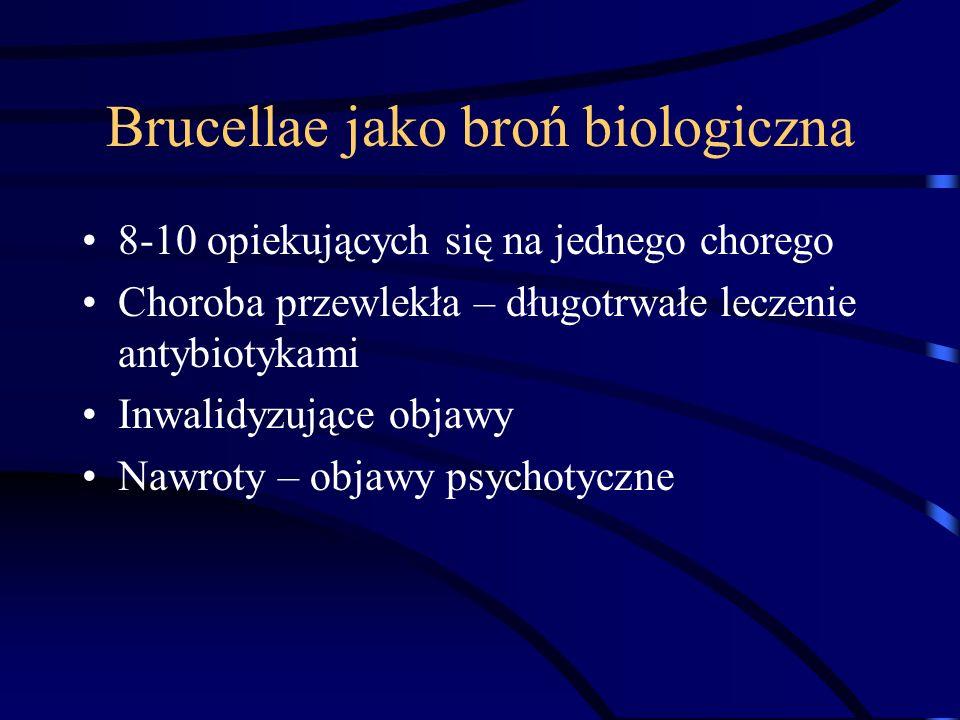 Brucellae jako broń biologiczna