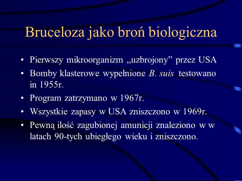 Bruceloza jako broń biologiczna