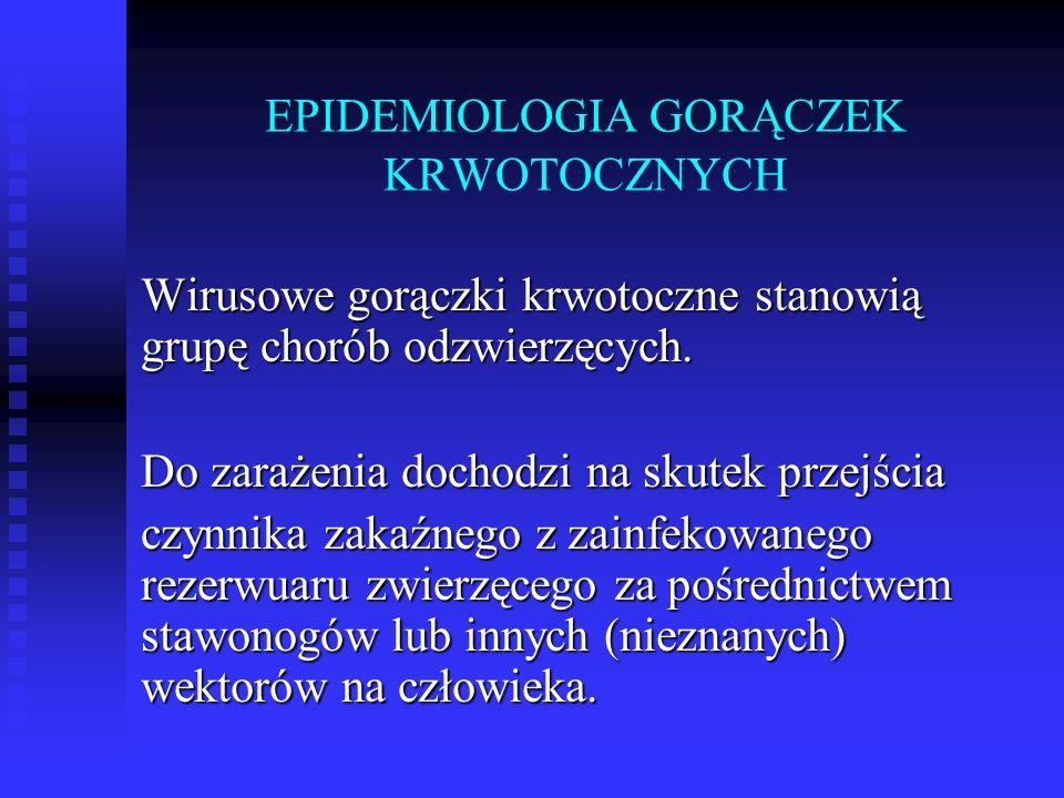 EPIDEMIOLOGIA GORĄCZEK KRWOTOCZNYCH