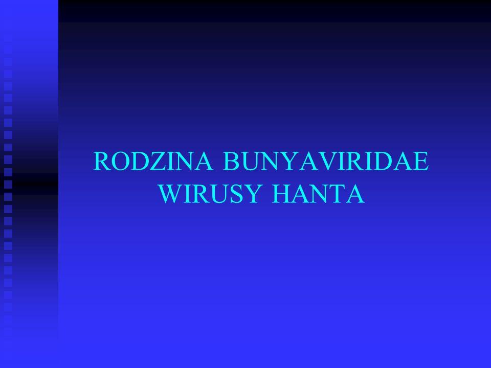 RODZINA BUNYAVIRIDAE WIRUSY HANTA