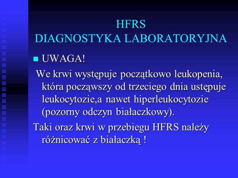 HFRS DIAGNOSTYKA LABORATORYJNA