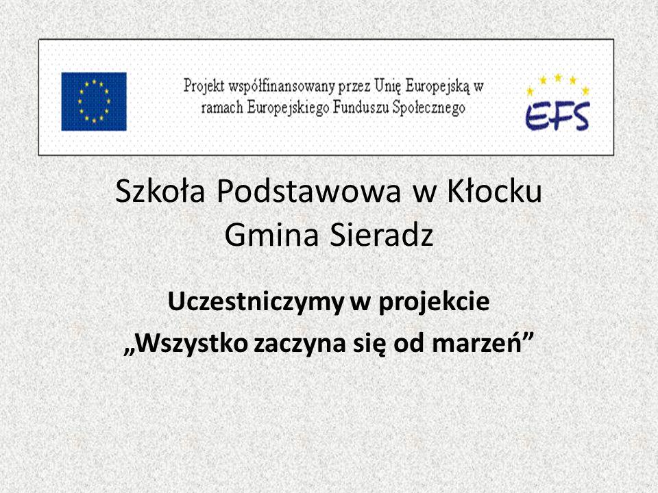 Szkoła Podstawowa w Kłocku Gmina Sieradz