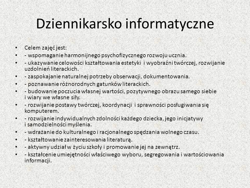 Dziennikarsko informatyczne