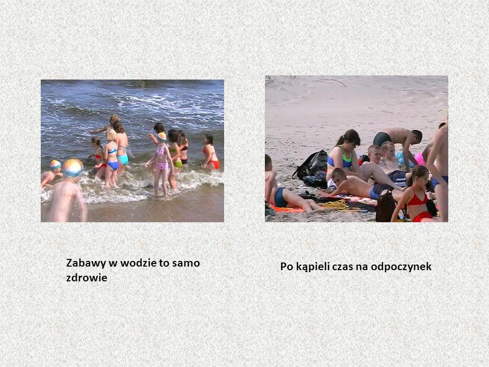 Zabawy w wodzie to samo zdrowie