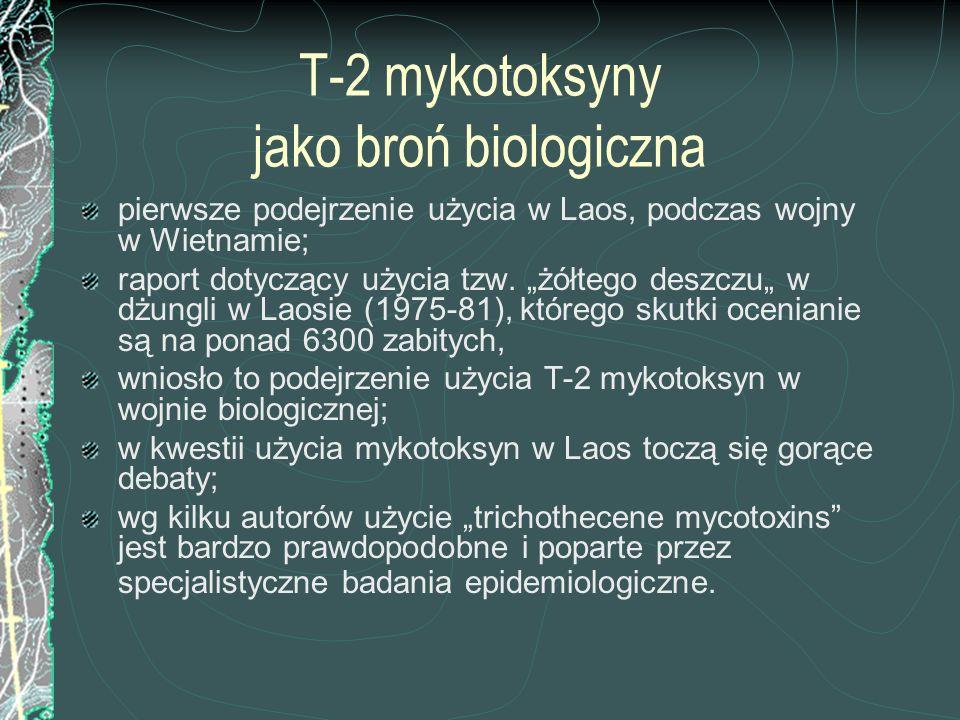 T-2 mykotoksyny jako broń biologiczna