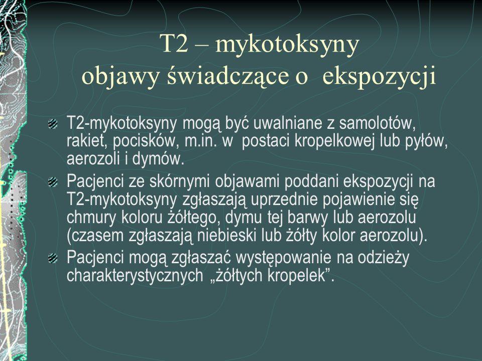 T2 – mykotoksyny objawy świadczące o ekspozycji