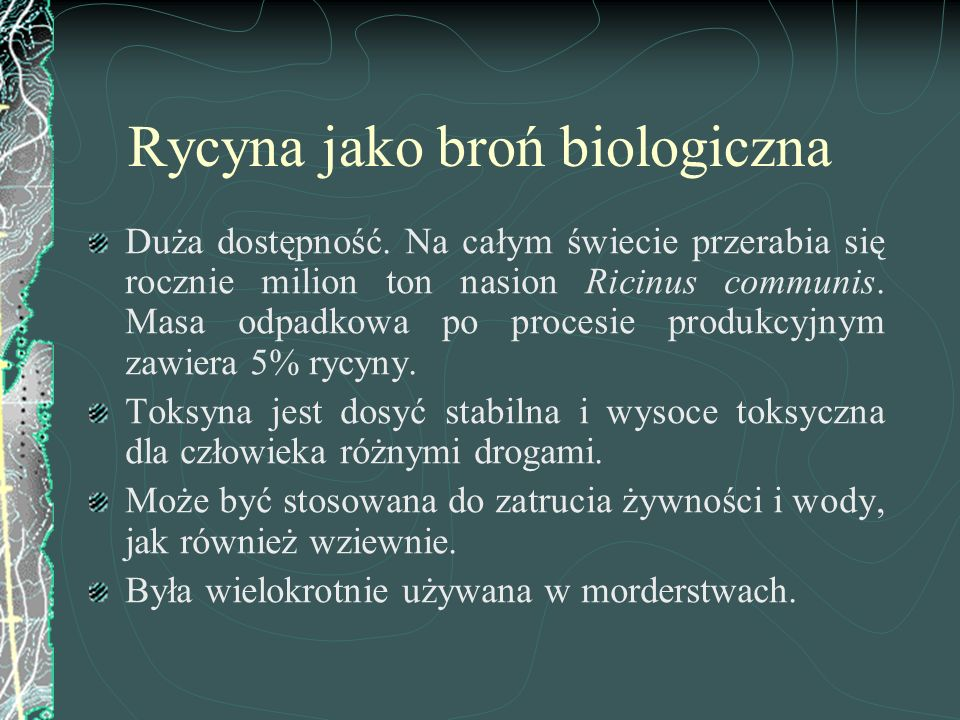 Rycyna jako broń biologiczna
