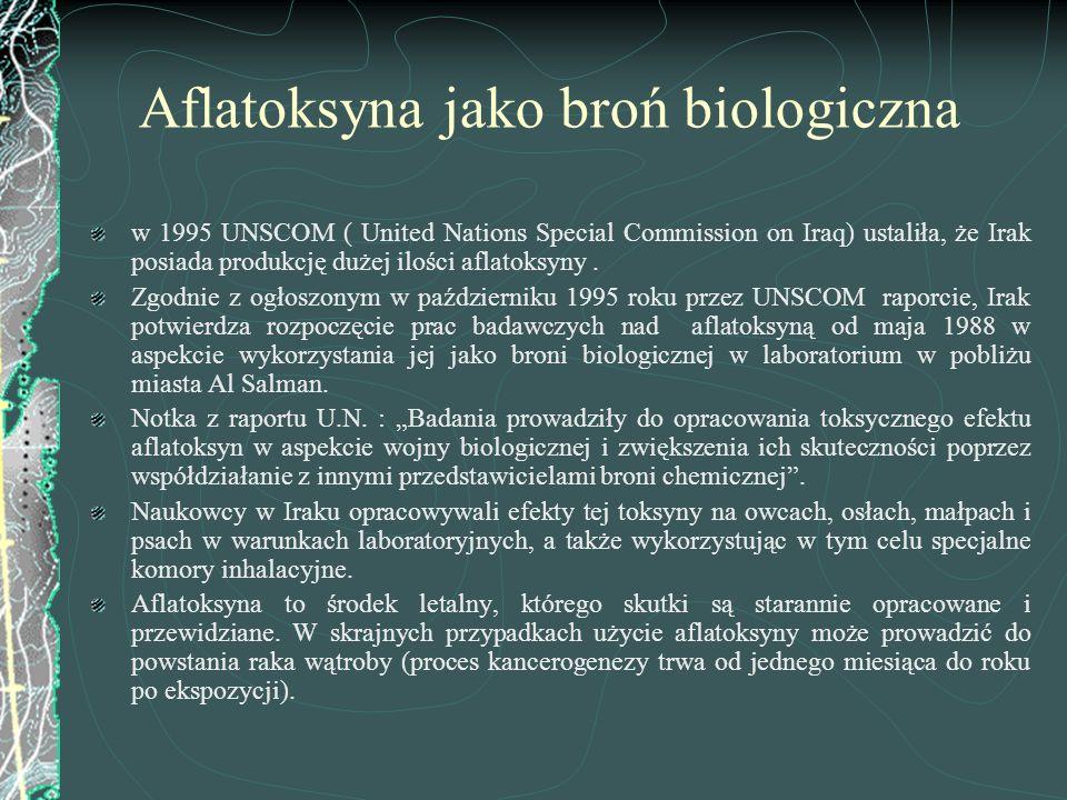 Aflatoksyna jako broń biologiczna
