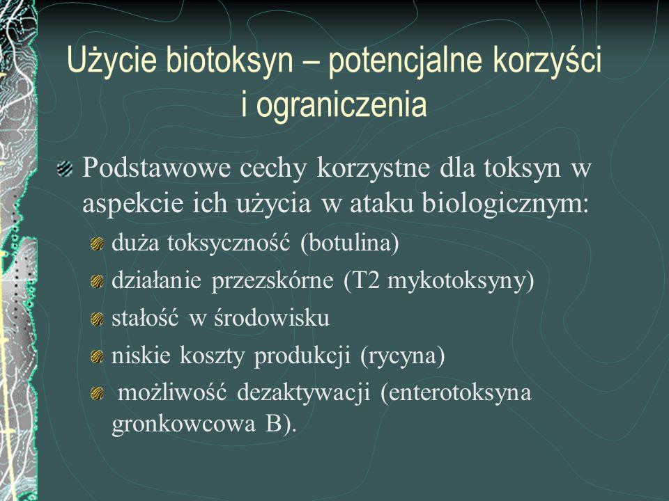 Użycie biotoksyn – potencjalne korzyści i ograniczenia
