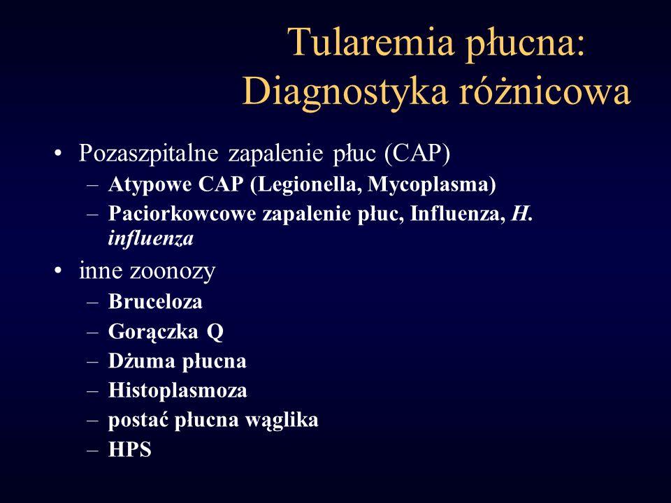 Tularemia płucna: Diagnostyka różnicowa
