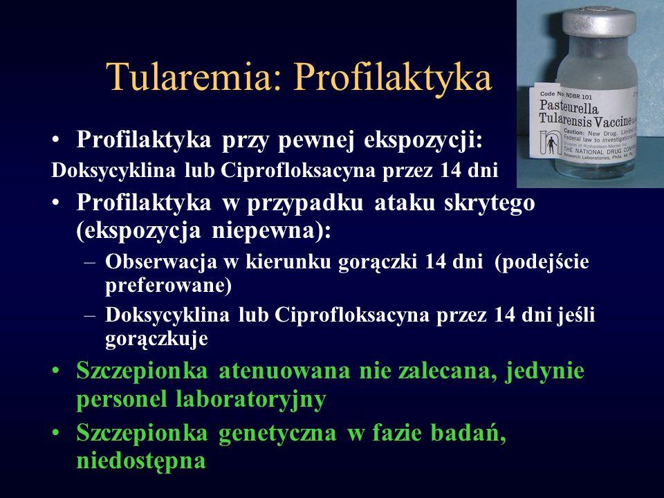 Tularemia: Profilaktyka