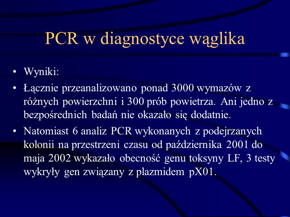 PCR w diagnostyce wąglika