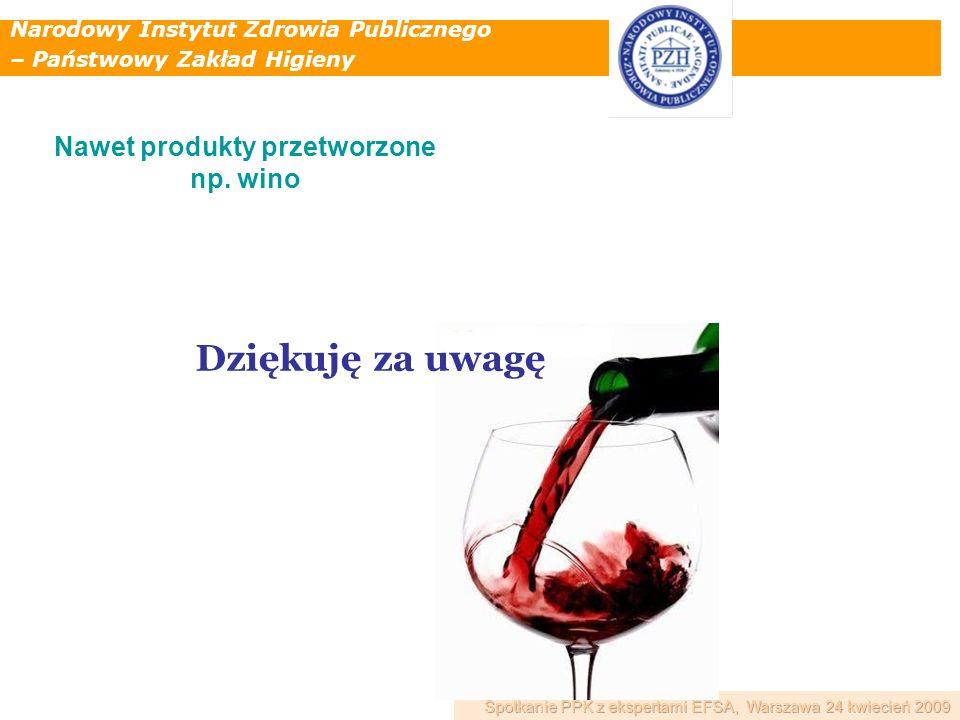 Nawet produkty przetworzone np. wino