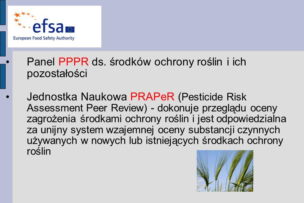 Panel PPPR ds. środków ochrony roślin i ich pozostałości