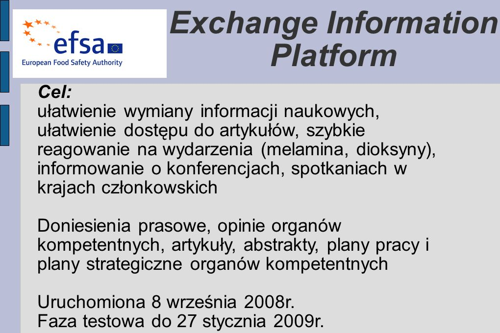 Exchange Information Platform