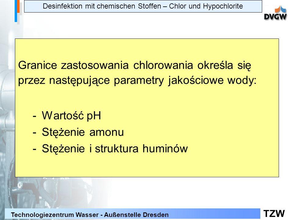 Desinfektion mit chemischen Stoffen – Chlor und Hypochlorite