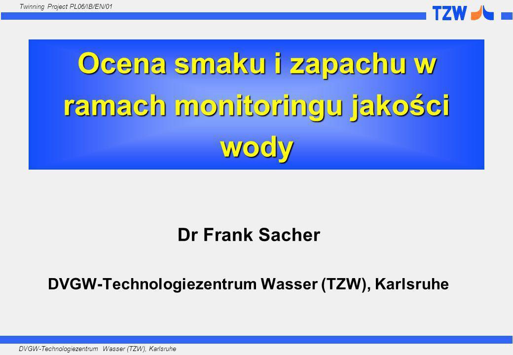 Ocena smaku i zapachu w ramach monitoringu jakości wody