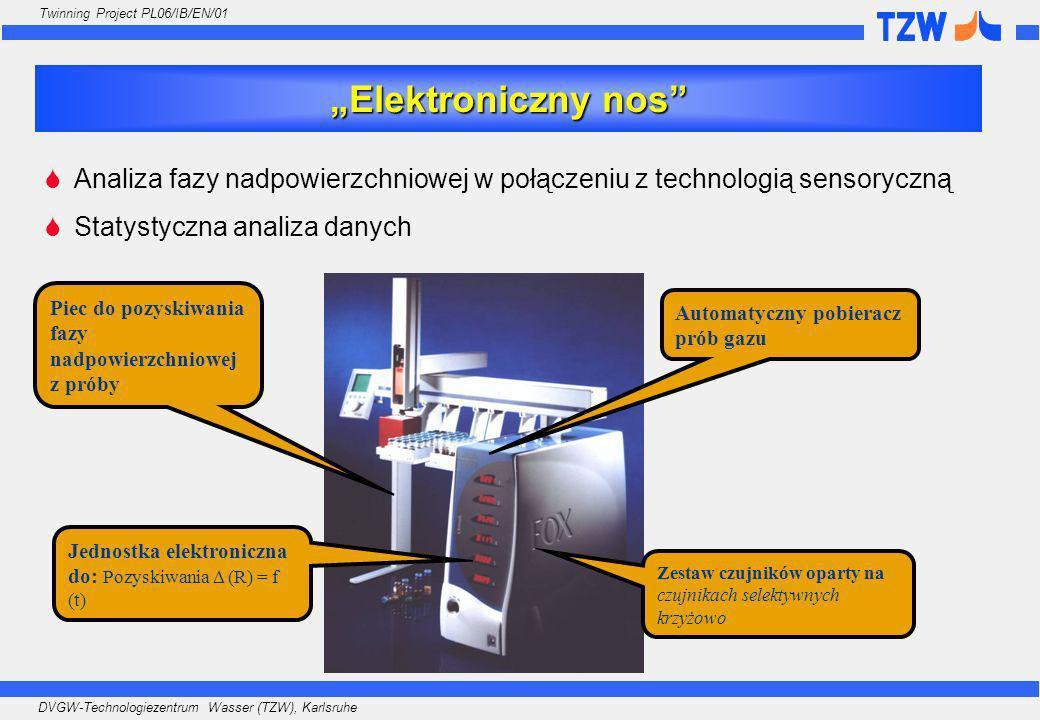 """""""Elektroniczny nos Analiza fazy nadpowierzchniowej w połączeniu z technologią sensoryczną. Statystyczna analiza danych."""