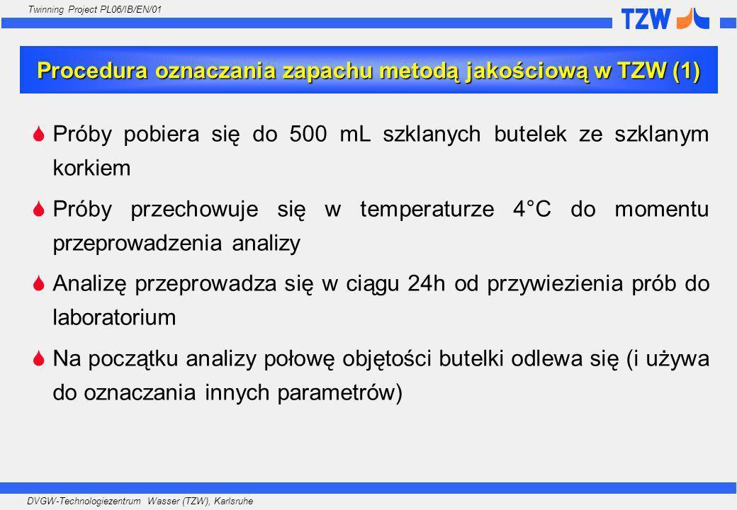 Procedura oznaczania zapachu metodą jakościową w TZW (1)