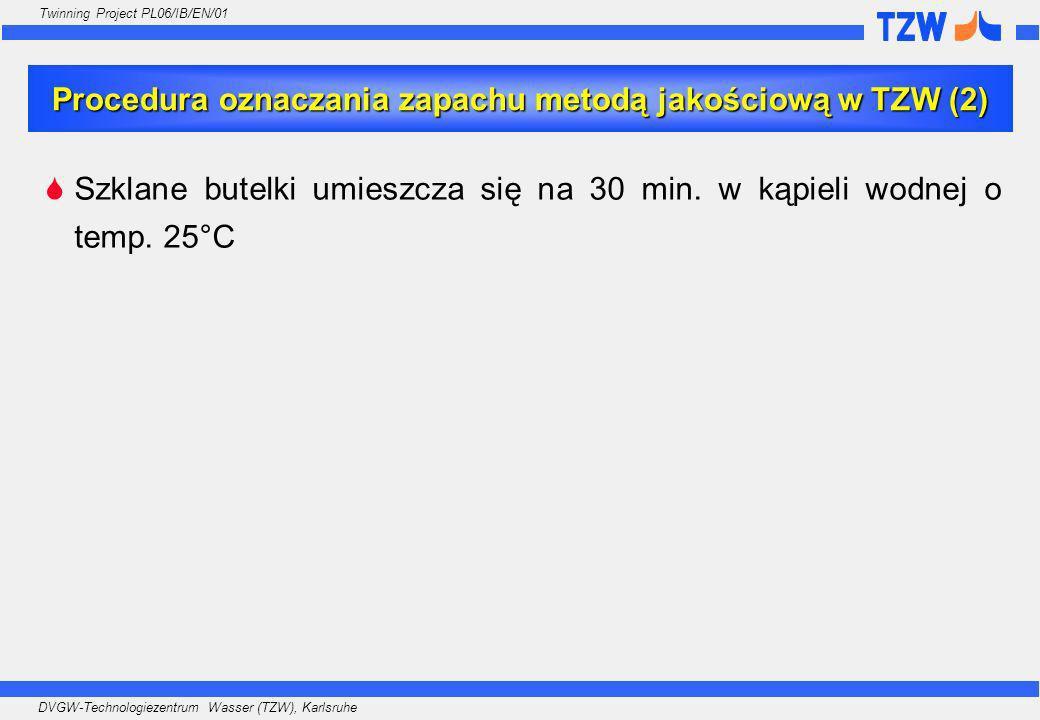 Procedura oznaczania zapachu metodą jakościową w TZW (2)