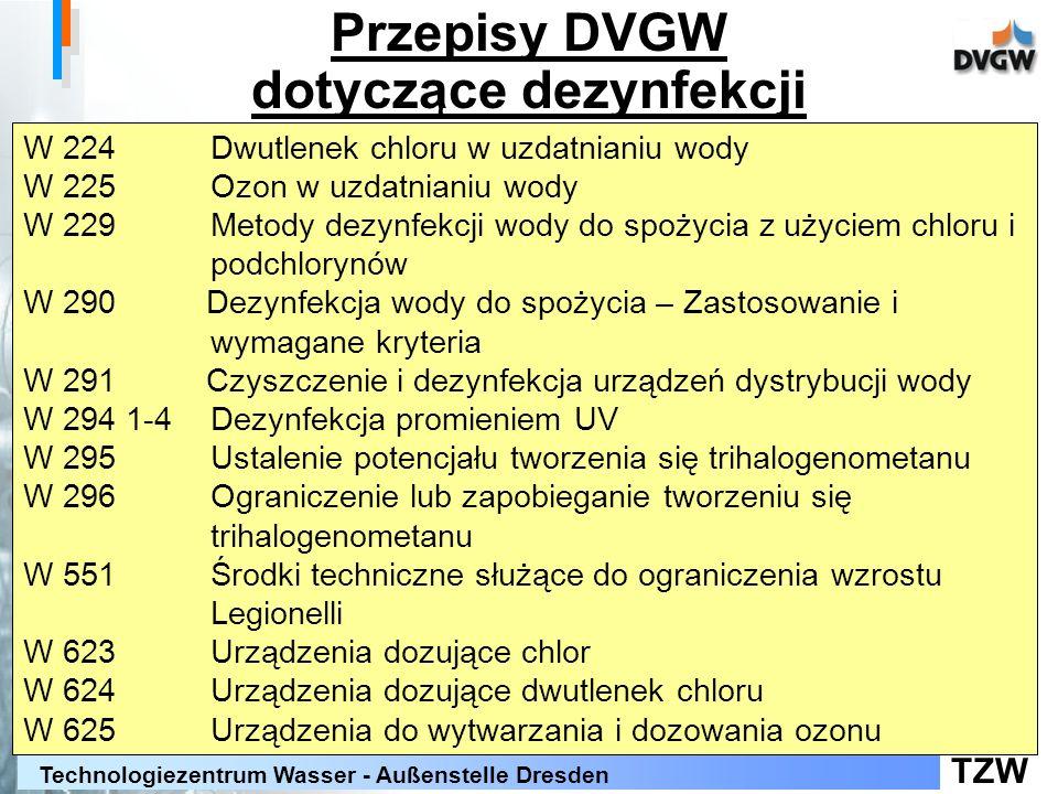 Przepisy DVGW dotyczące dezynfekcji