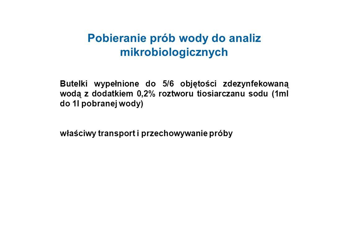 Pobieranie prób wody do analiz mikrobiologicznych