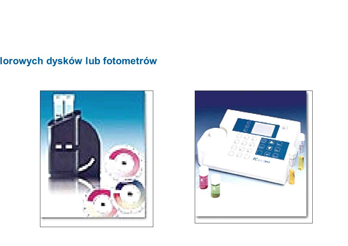 Zastosowanie kolorowych dysków lub fotometrów