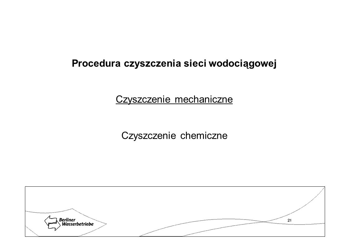 Procedura czyszczenia sieci wodociągowej