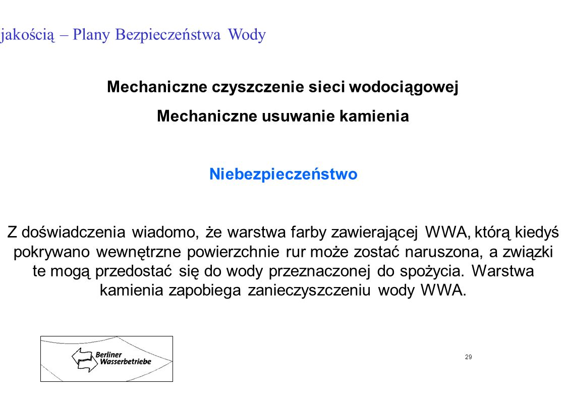 Mechaniczne czyszczenie sieci wodociągowej