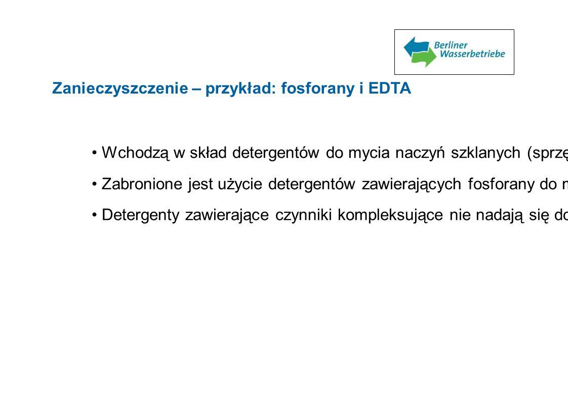 Zanieczyszczenie – przykład: fosforany i EDTA