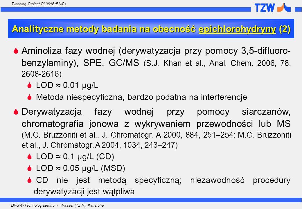 Analityczne metody badania na obecność epichlorohydryny (2)