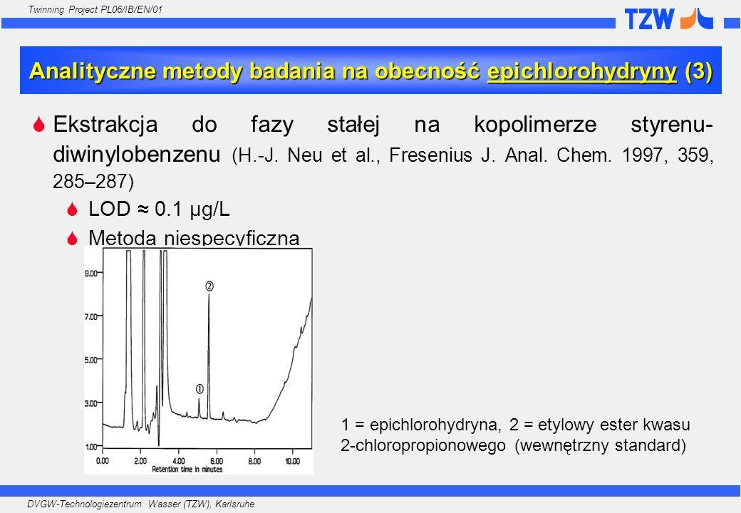 Analityczne metody badania na obecność epichlorohydryny (3)